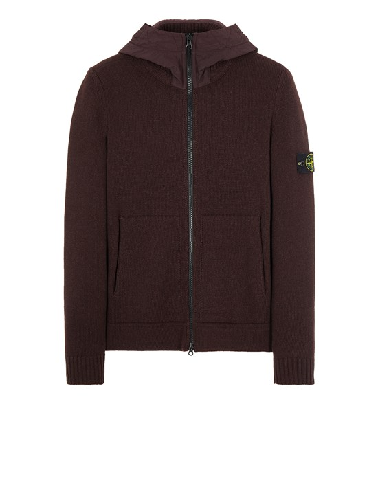 Sweater Man 531A3 LAMBSWOOL WITH NASLAN HOOD Front STONE ISLAND