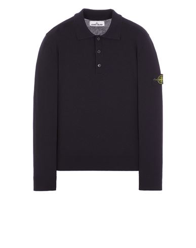 STONE ISLAND 512A1 STRETCH WOOL Sweater Man Blue EUR 295