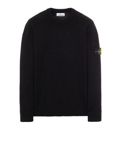 STONE ISLAND 541A2 WINTER COTTON Sweater Man Black EUR 349