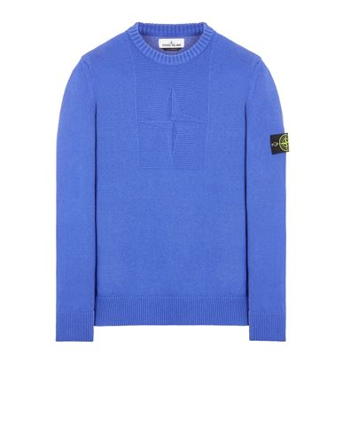 STONE ISLAND 503A7 COMFORT WOOL-COTTON Sweater Man Periwinkle USD 411