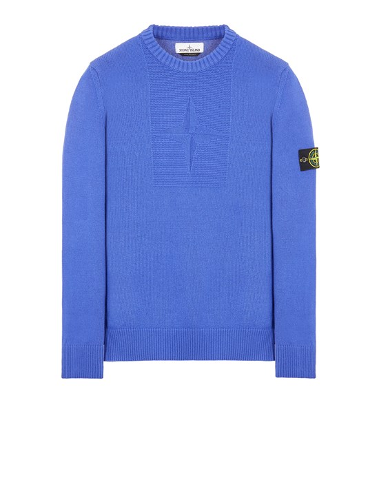 Sweater Man 503A7 COMFORT WOOL-COTTON Front STONE ISLAND