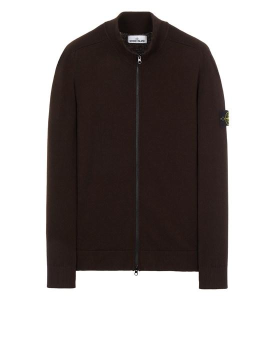STONE ISLAND 519A1 STRETCH WOOL Sweater Man Dark Brown
