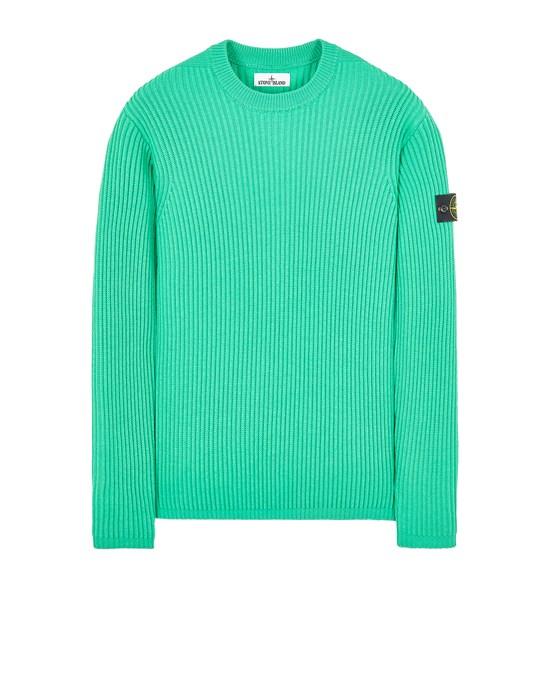 STONE ISLAND 517C2 FULL RIB PURE WOOL Sweater Man Green