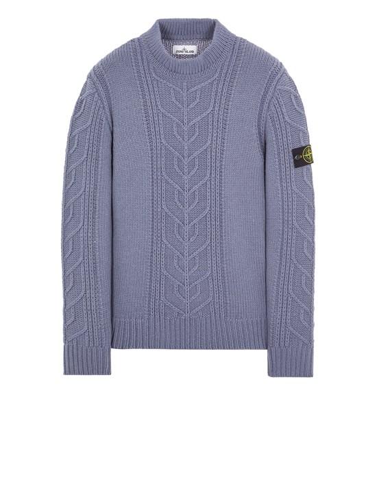 Sweater Man 569D4 LAMBSWOOL WITH ARAN MOTIF Front STONE ISLAND