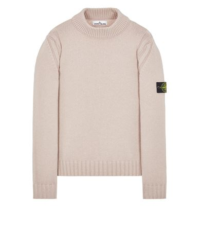 STONE ISLAND 557B2 WOOL-SILK Sweater Man Pastel pink EUR 455