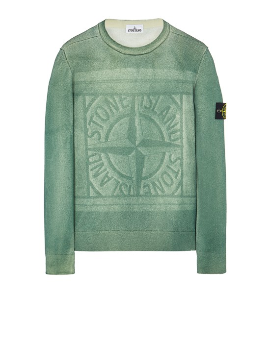 Sweater Man 570A8 PURE WOOL_FAST DYE + HAND MADE AIRBRUSH + LASER PRINT: REVERSIBLE Front STONE ISLAND