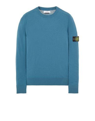 STONE ISLAND 511A1 STRETCH WOOL Sweater Man Teal USD 288