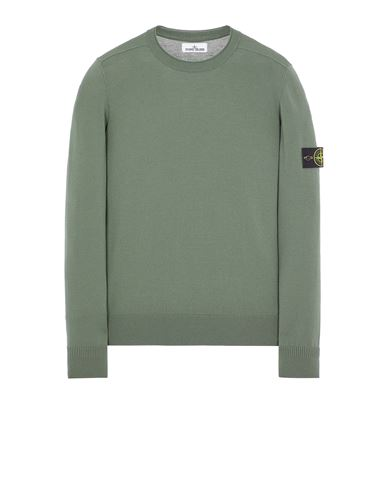 STONE ISLAND 511A1 STRETCH WOOL Sweater Man Sage Green EUR 279