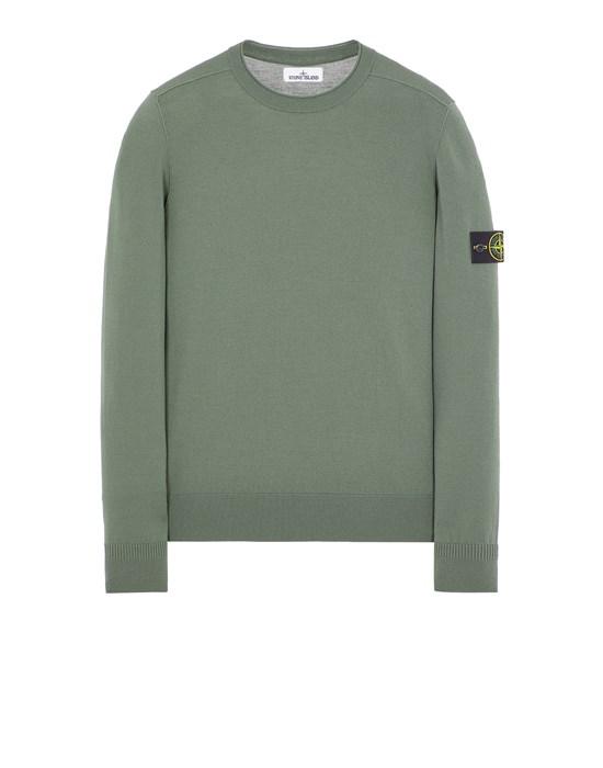 STONE ISLAND 511A1 STRETCH WOOL Sweater Man Sage Green