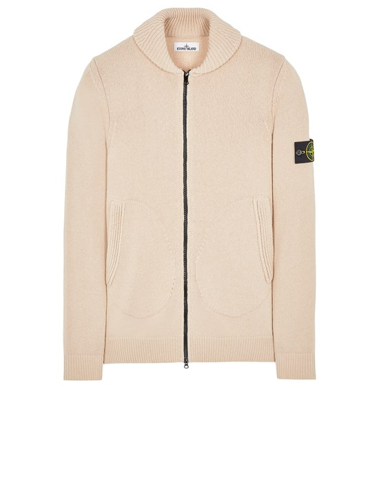 Sweater Man 502A7 COMFORT WOOL-COTTON Front STONE ISLAND