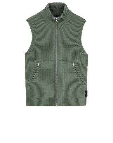 STONE ISLAND 565C2 FULL RIB PURE WOOL  Sweater Man Sage Green EUR 479