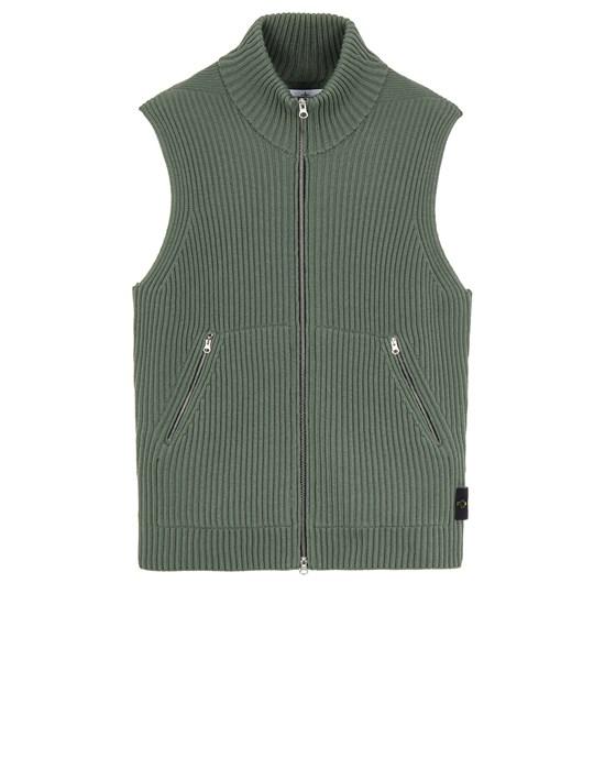 Sweater Man 565C2 FULL RIB PURE WOOL Front STONE ISLAND