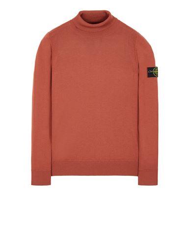 STONE ISLAND 527C4 LIGHT PURE WOOL Sweater Man Brick red EUR 279