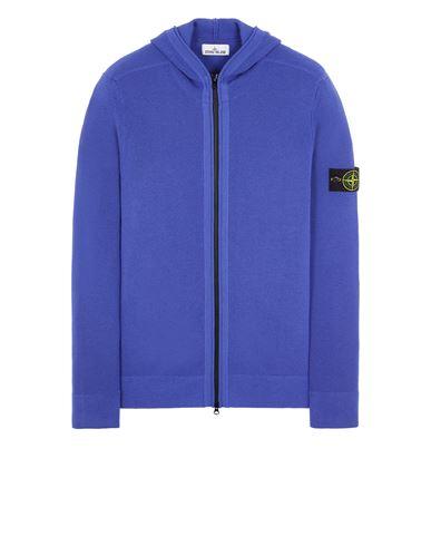 STONE ISLAND 566C2 FULL RIB PURE WOOL  Sweater Man Periwinkle EUR 349