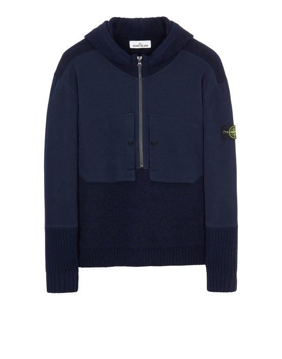 Sweater Man 571B9 MIXED YARNS WITH MIXED MATERIALS Front STONE ISLAND