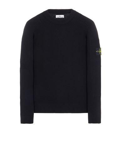 STONE ISLAND 550A7 COMFORT WOOL COTTON Sweater Man Black EUR 335