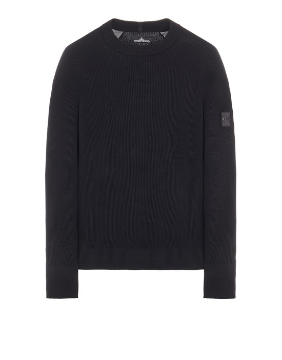 STONE ISLAND SHADOW PROJECT 505A1 STRETCH WOOL_CHAPTER 1 Sweater Man Black