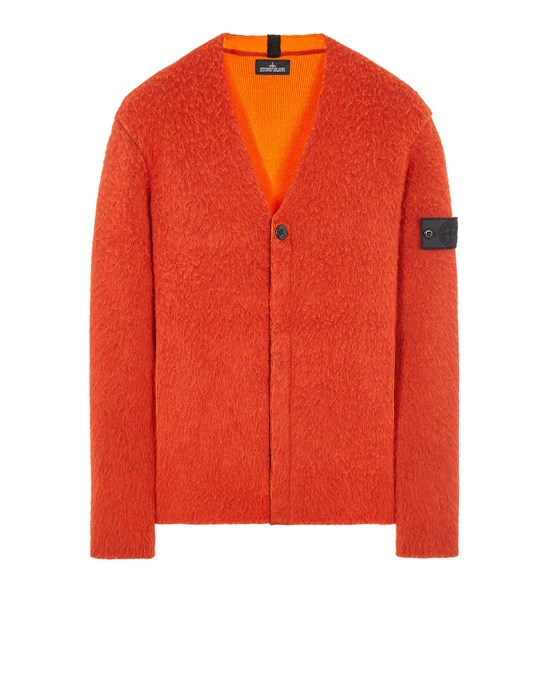 STONE ISLAND SHADOW PROJECT 501D2 WOOL/COTTON DOUBLE CONSTRUCTION, HAND GAUZED OUTSIDE_CHAPTER 1 Sweater Man Orange