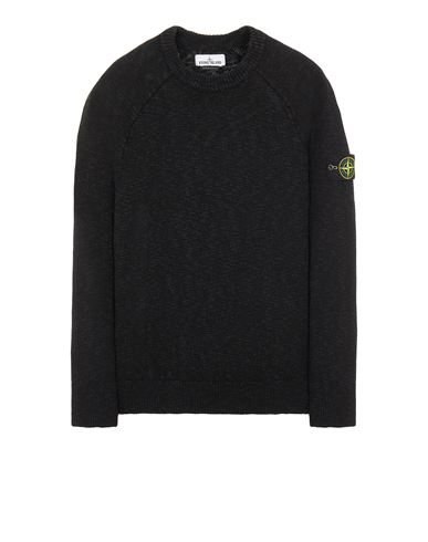 STONE ISLAND 510D3 COTTON WOOL MÉLANGE Sweater Man Black EUR 279