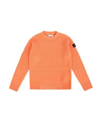 STONE ISLAND TEEN 505D2 Sweater Man Rust EUR 265