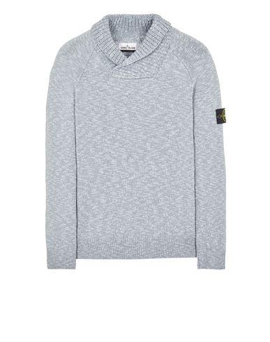 STONE ISLAND 529D3 COTTON WOOL MÉLANGE Sweater Man Pearl Grey EUR 309