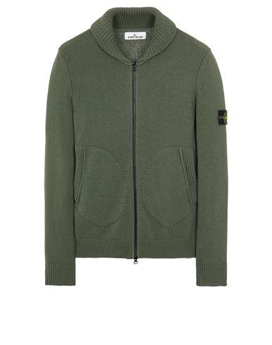 STONE ISLAND 502A7 COMFORT WOOL-COTTON Sweater Man Sage Green USD 559