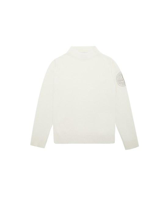 STONE ISLAND JUNIOR 508A1 Sweater Man Natural White