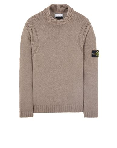 STONE ISLAND 557B2 WOOL-SILK Sweater Man Ecru EUR 455