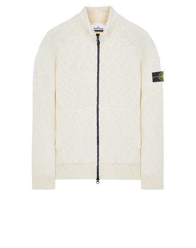 STONE ISLAND 536D3 COTTON WOOL MÉLANGE Sweater Man Ecru EUR 359