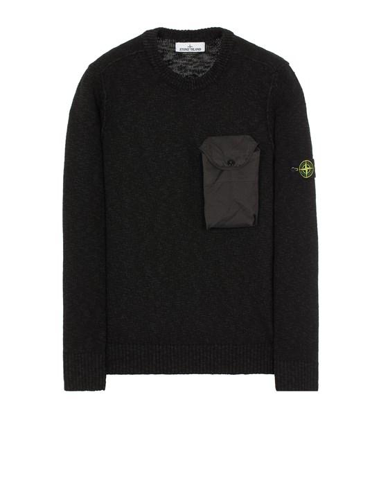 Sweater Herr 532D3 COTTON WOOL MÉLANGE + FABRIC POCKET Front STONE ISLAND
