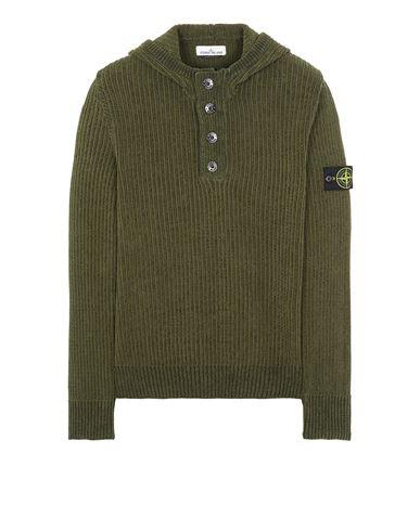STONE ISLAND 564A5 COTTON CHENILLE Sweater Man Sage Green EUR 455