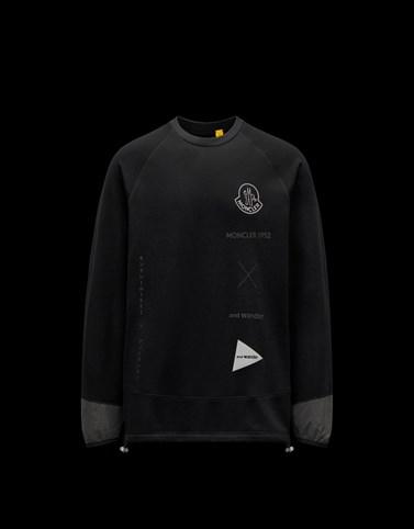 徽标卫衣 黑色 2 Moncler 1952 男士