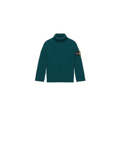 STONE ISLAND BABY 514A3 Sweater Man Dark Teal Green USD 212