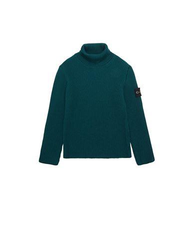 STONE ISLAND KIDS 514A3 Sweater Man Dark Teal Green EUR 219