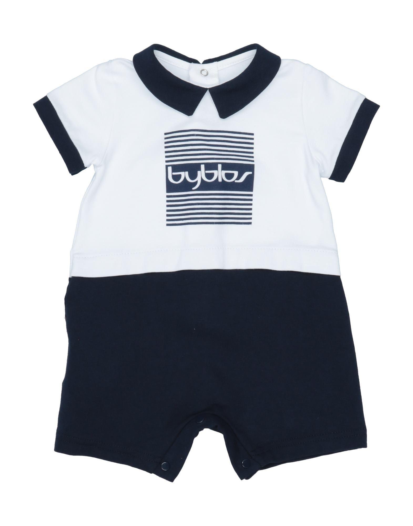 YOOX.COM(ユークス)《セール開催中》BYBLOS ボーイズ 0-24 ヶ月 乳幼児用ロンパース ダークブルー 1 コットン 90% / ポリウレタン 10%