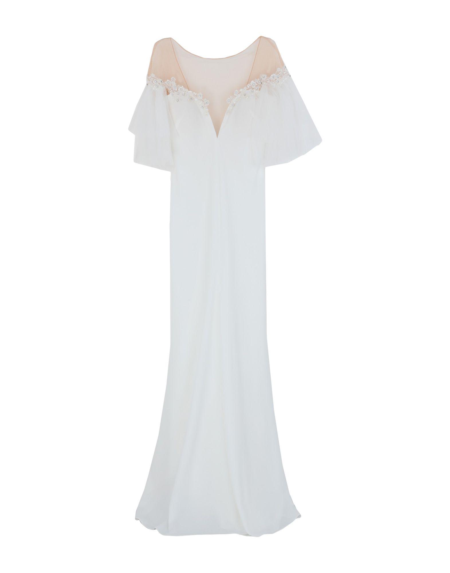 《セール開催中》BESIDE COUTURE by GEMY レディース ロングワンピース&ドレス ホワイト 6 ポリエステル 100%