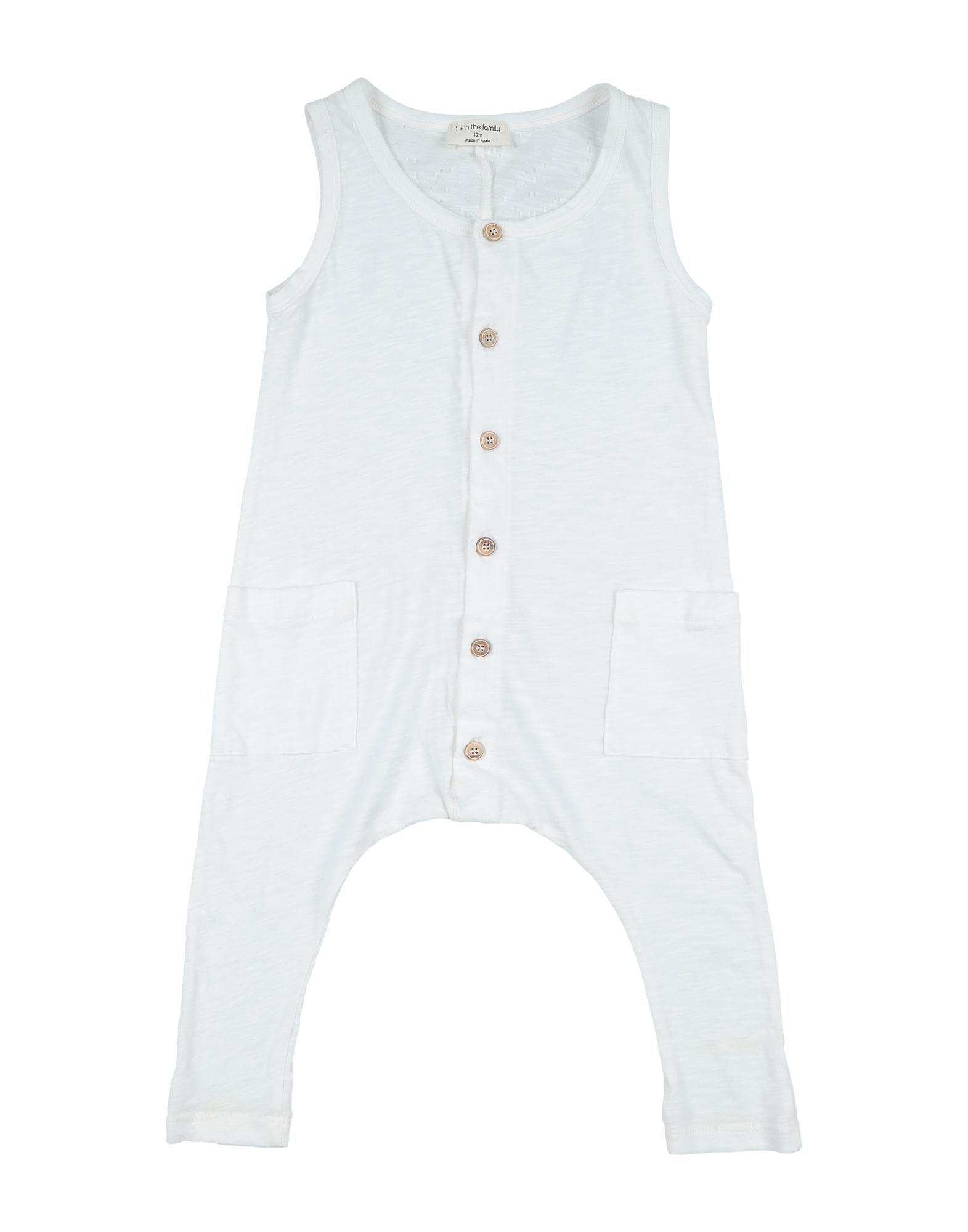YOOX.COM(ユークス)《セール開催中》1 + IN THE FAMILY ガールズ 0-24 ヶ月 乳幼児用ロンパース ホワイト 12 コットン 100%