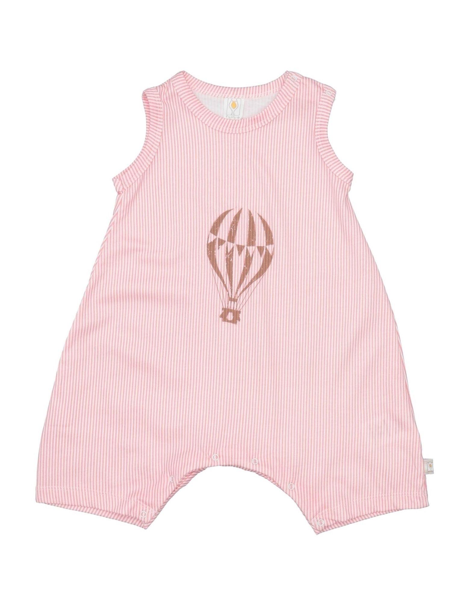 YOOX.COM(ユークス)《セール開催中》FILOBIO ガールズ 0-24 ヶ月 乳幼児用ロンパース コーラル 9 コットン 100%