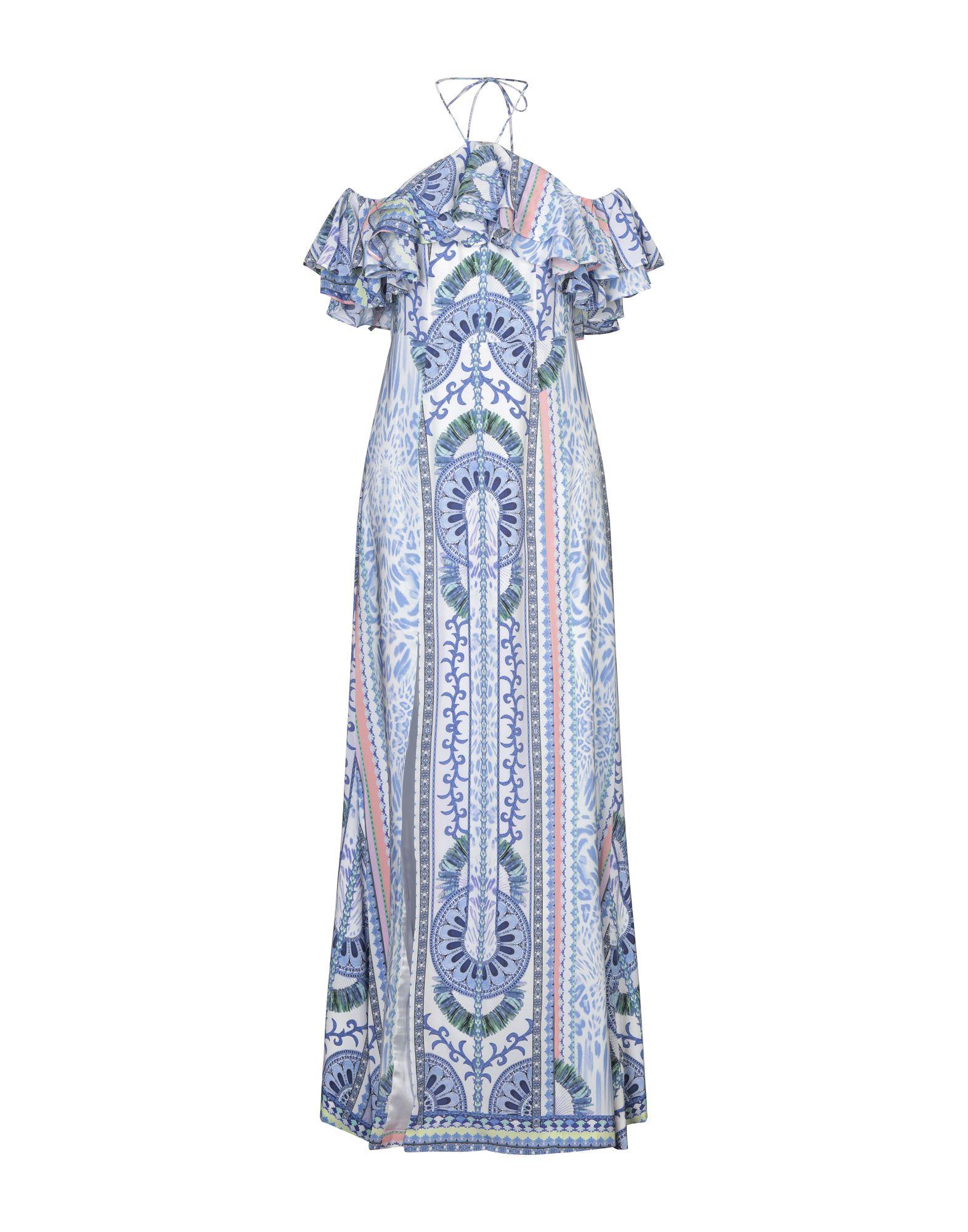 《セール開催中》BY MALINA レディース ロングワンピース&ドレス ブルー XS シルク 100%