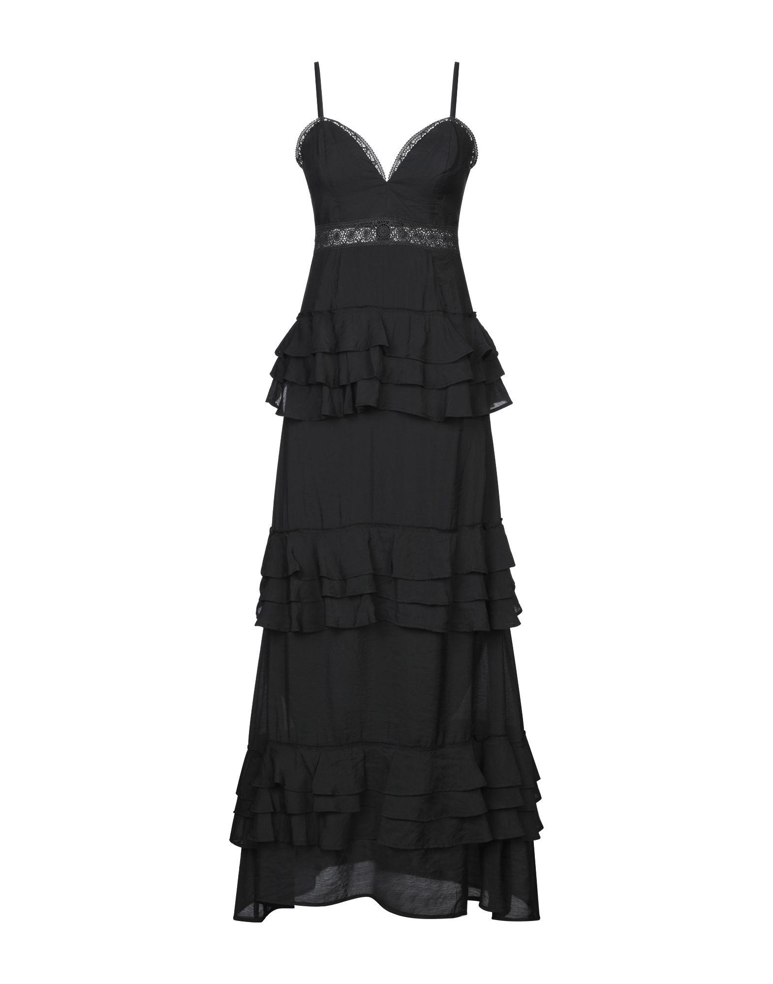《セール開催中》BY MALINA レディース ロングワンピース&ドレス ブラック S コットン 100%