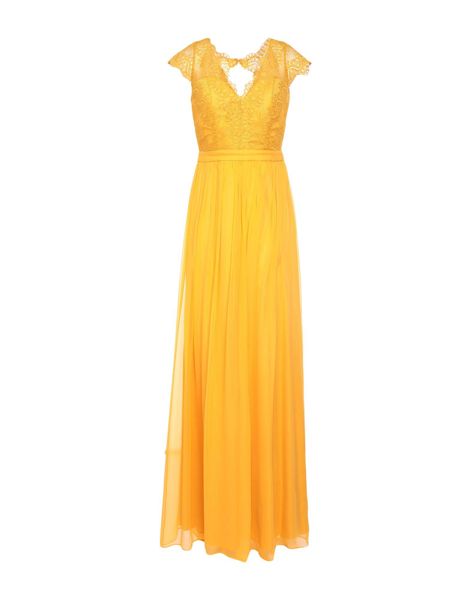 《セール開催中》BY MALINA レディース ロングワンピース&ドレス オークル M シルク 100%
