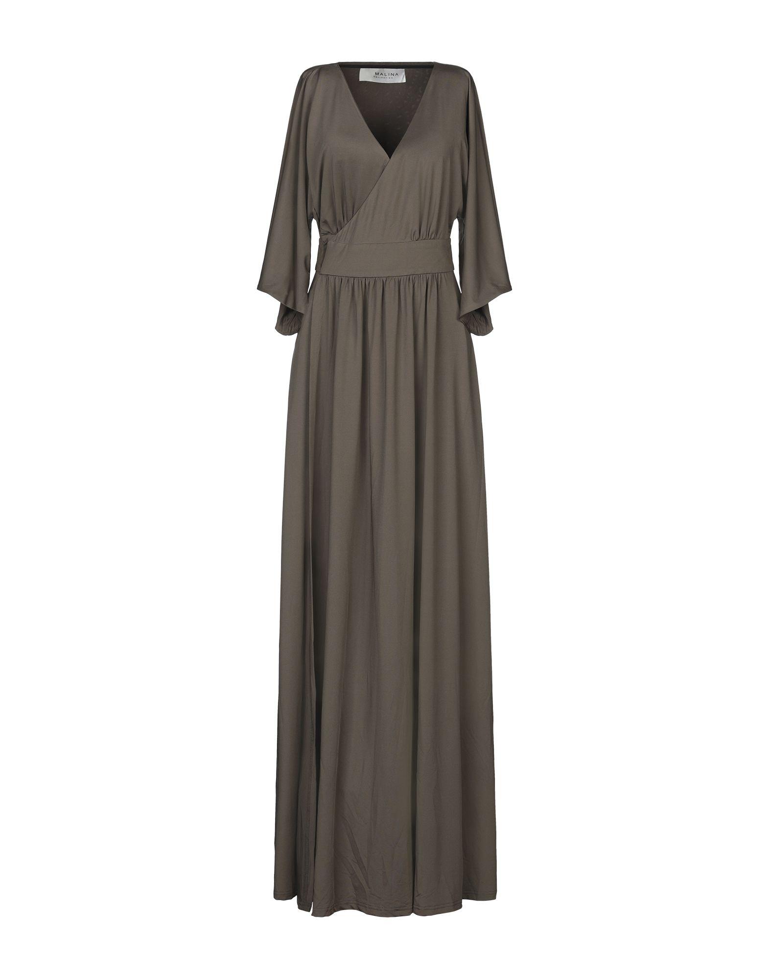 《セール開催中》BY MALINA レディース ロングワンピース&ドレス ミリタリーグリーン XS ポリエステル 95% / ポリウレタン 5%