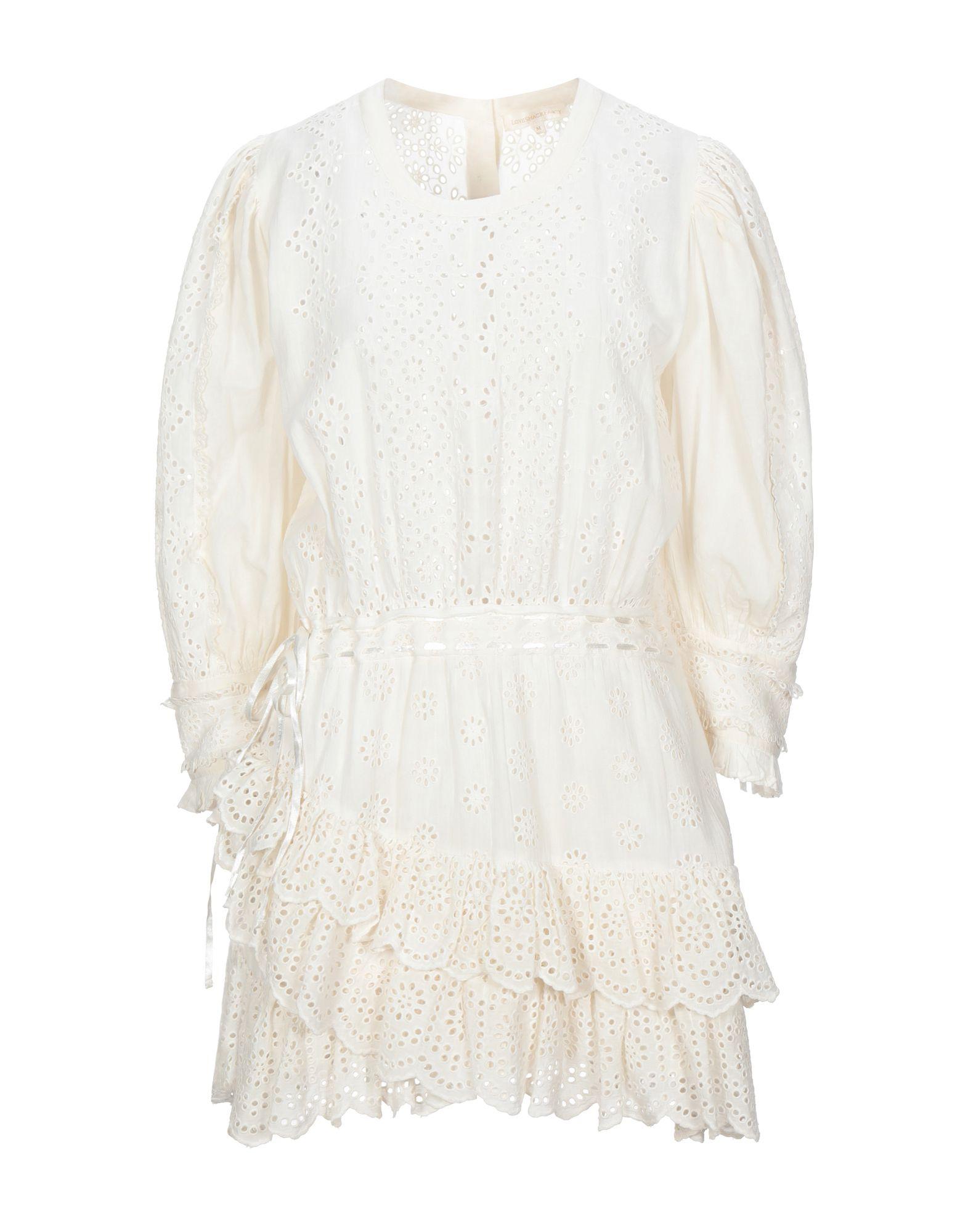 LOVESHACKFANCY Короткое платье