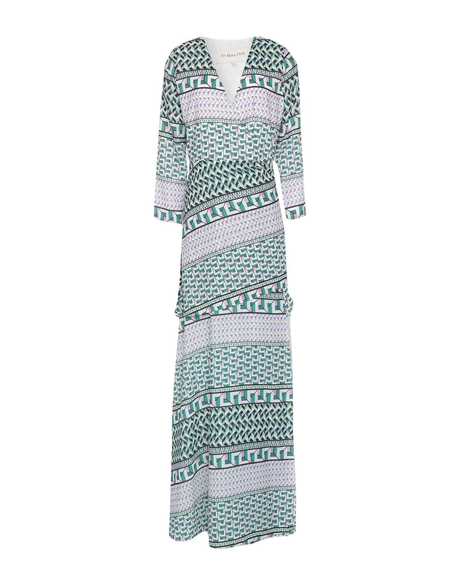 《セール開催中》BY MALINA レディース ロングワンピース&ドレス グリーン XS ポリエステル 100%