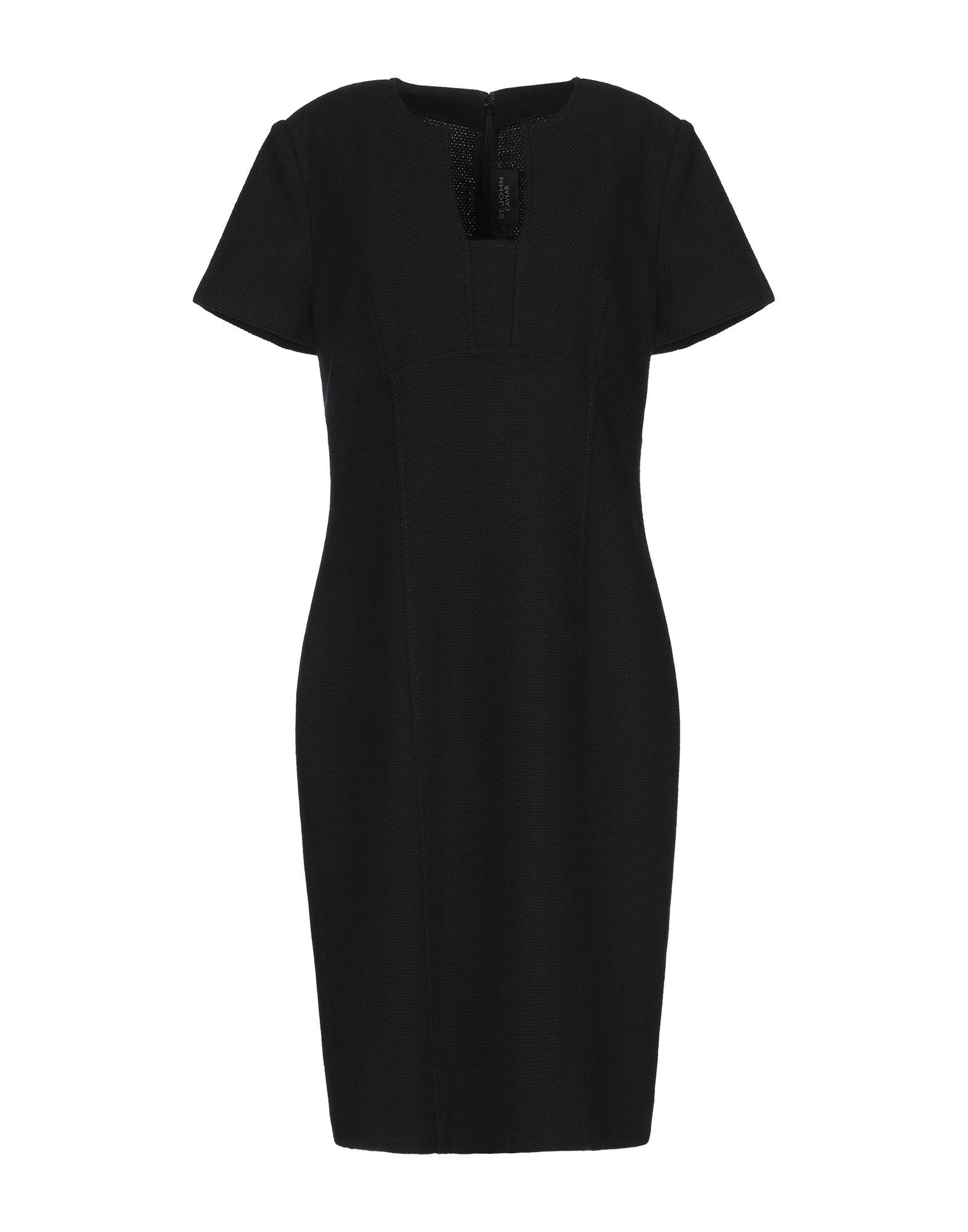 ST. JOHN CAVIAR Платье до колена