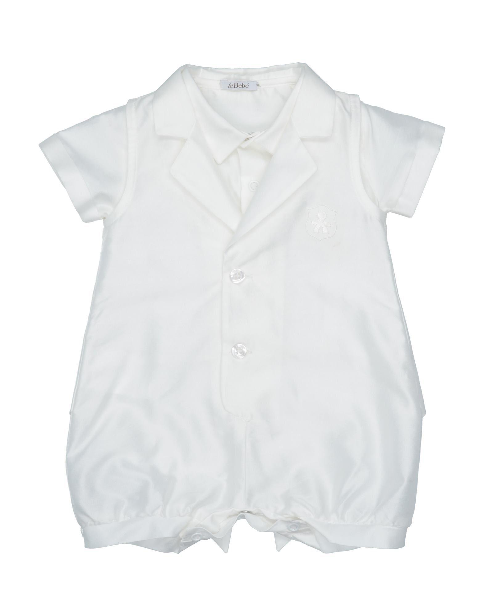 YOOX.COM(ユークス)《セール開催中》LE BEB? ボーイズ 0-24 ヶ月 乳幼児用ロンパース ホワイト 6 コットン 90% / ポリエステル 10%