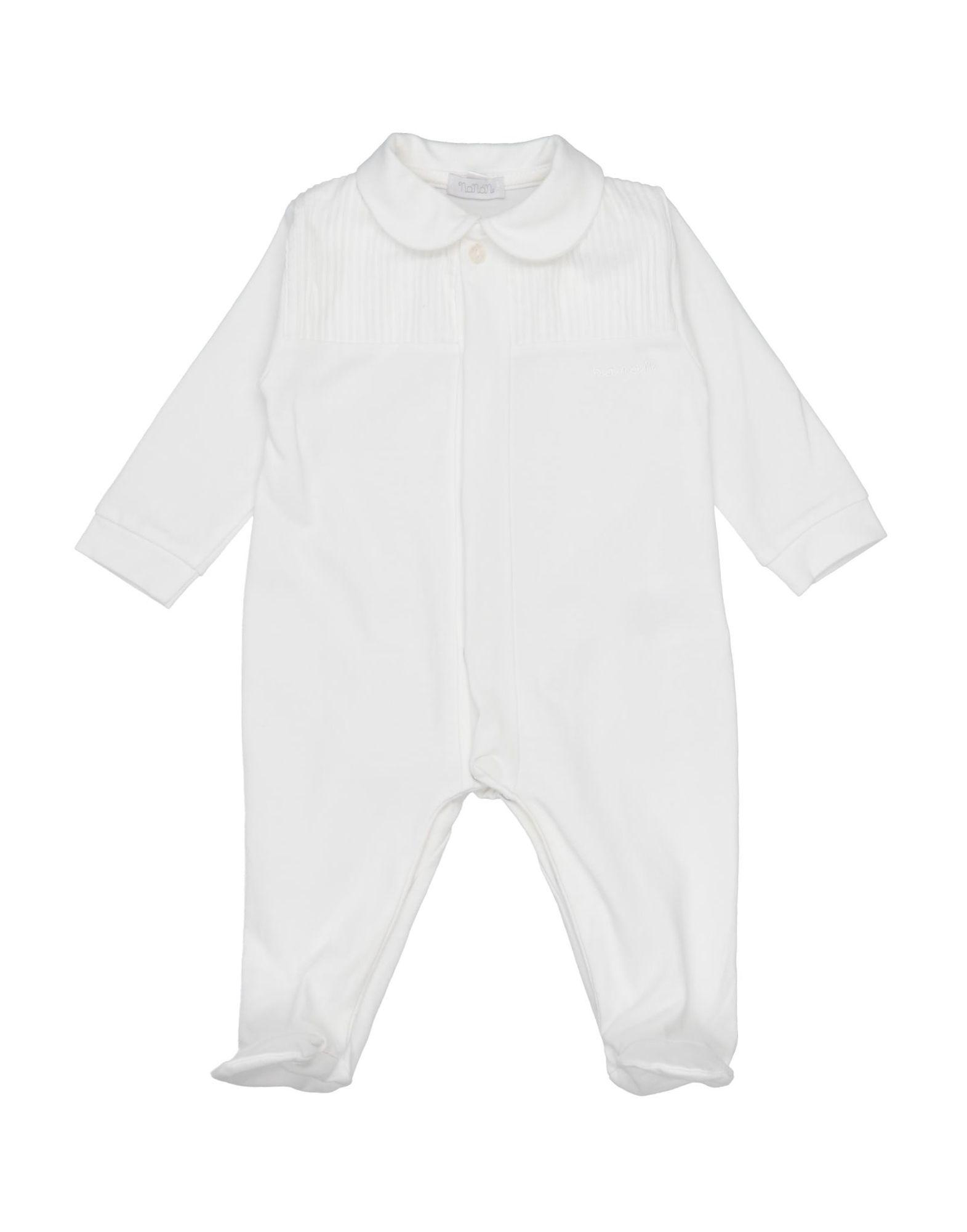 YOOX.COM(ユークス)《セール開催中》NAN?N ガールズ 0-24 ヶ月 乳幼児用ロンパース ホワイト 3 コットン 95% / ポリウレタン 5%