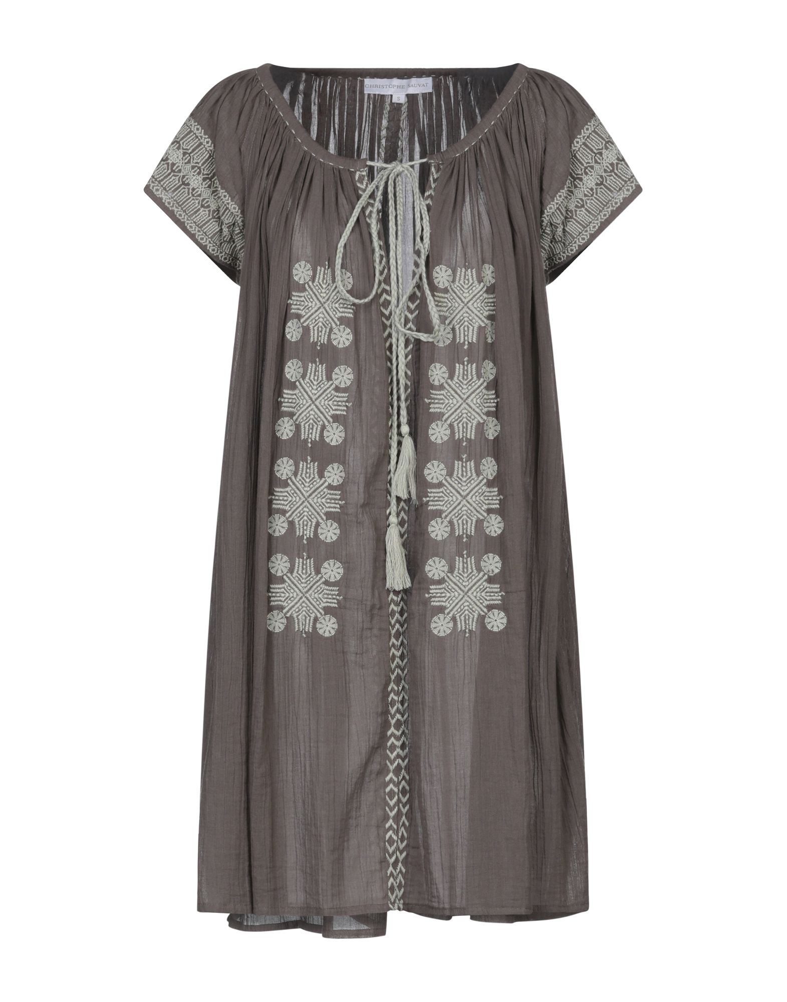 CHRISTOPHE SAUVAT Короткое платье christophe nekromanciè футболка