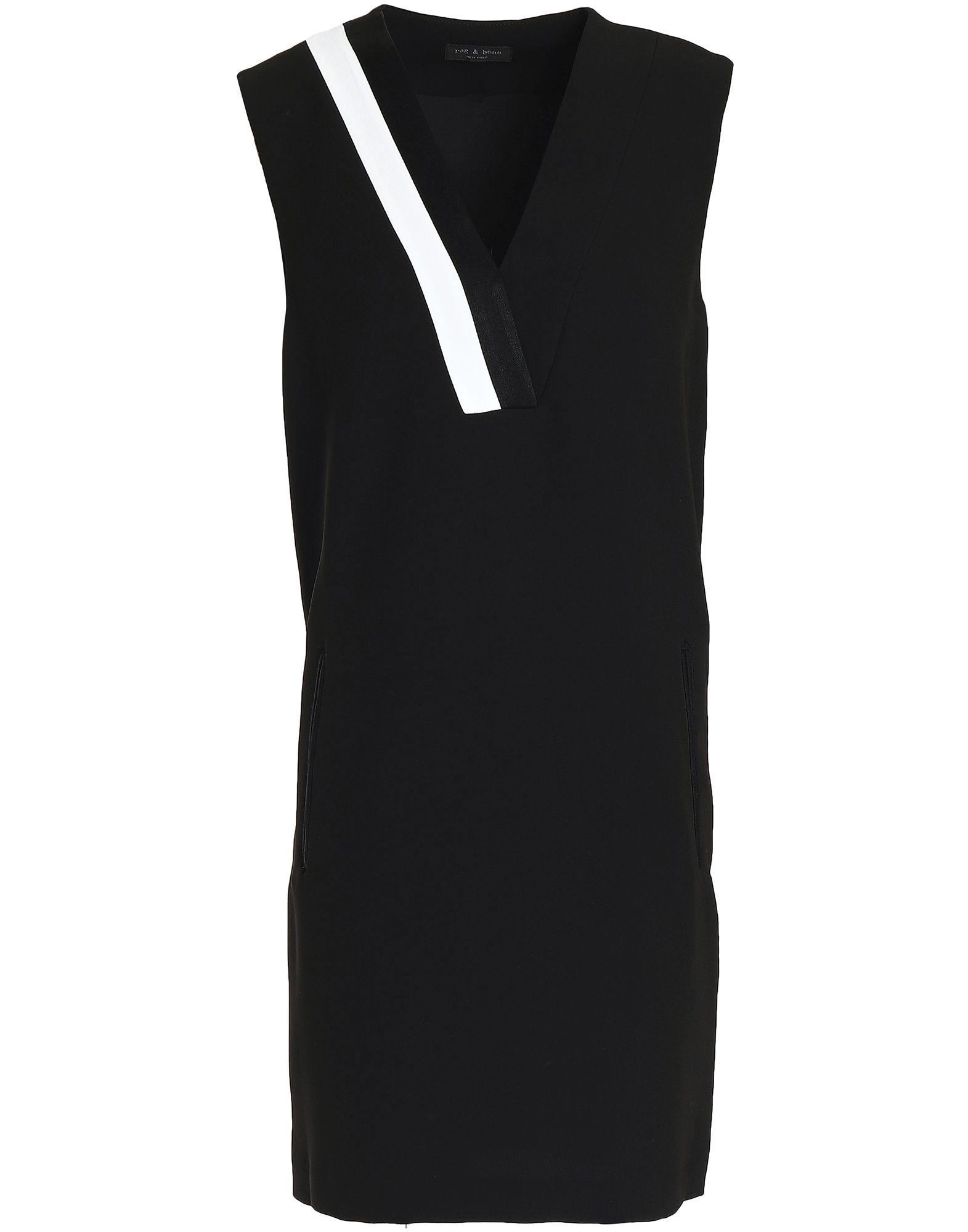《セール開催中》RAG &BONE レディース ミニワンピース&ドレス ブラック 10 ポリエステル 61% / トリアセテート 39% / コットン / ナイロン