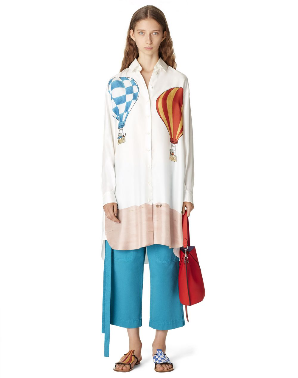 BABAR PRINT SHIRT DRESS IN SILK - Lanvin